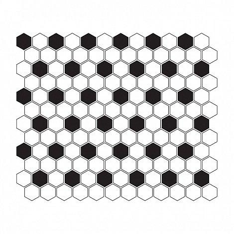 MINI HEXAGON B&W Mix (30 x 26cm/1ks)