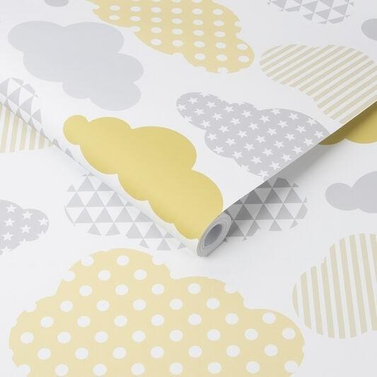 Individual Kids@Home - Clouds Yellow Grey 108267