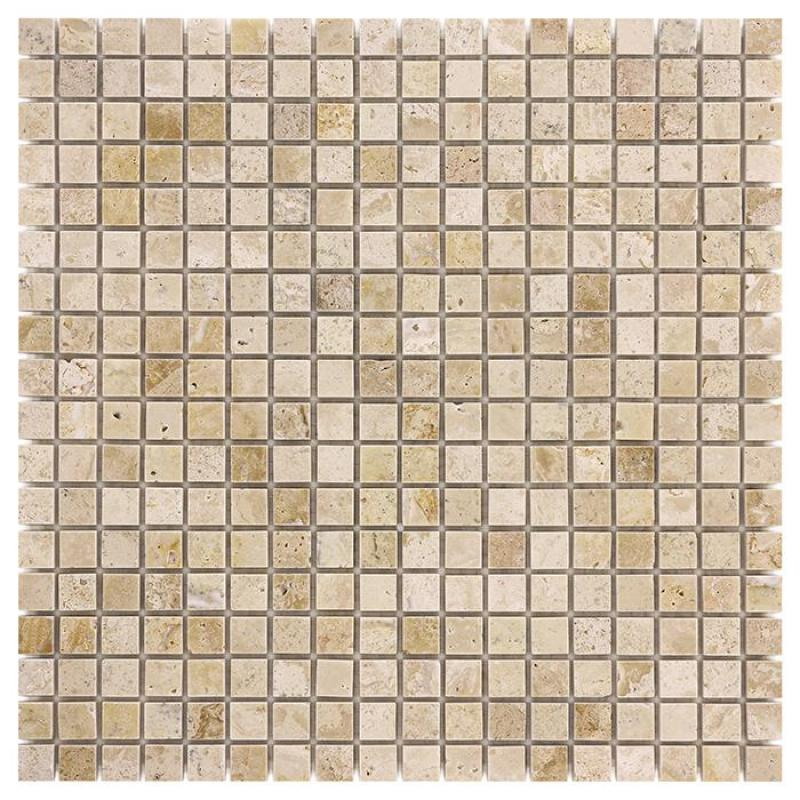 Traver.+Emper. Travertine Cream 15 Mramorové mozaiky DUNIN (30,5 x 30,5 cm / 1 ks)
