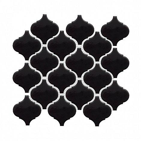 MINI ARABESCO Black (27,6 x 25cm/1ks)