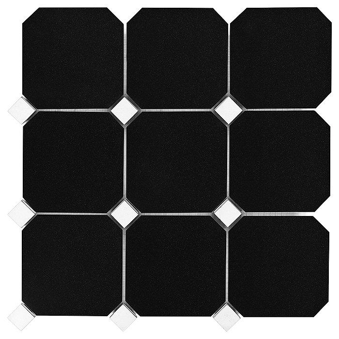 GRANITE BLACK OCTAGON 100 (30,5 x 30,5cm/1ks)