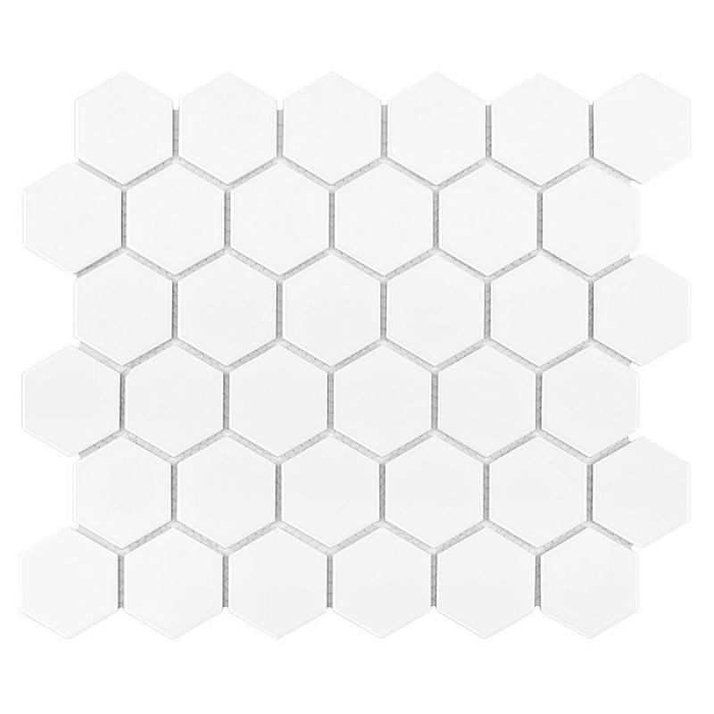 HEXAGON White 51 MATT (32 x 28cm/1ks)