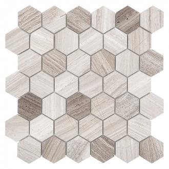 WOODSTONE GREY HEXAGON 48 (30,5 x 30,5cm/1ks)