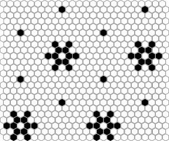 MINI HEXAGON B&W Snow (30 x 26cm/1ks)