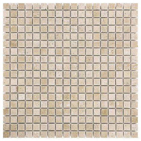 Traver.+Emper. Travertine WHITE 15 Mramorové mozaiky DUNIN (30,5 x 30,5 cm / 1 ks)