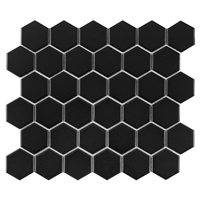 HEXAGON Black 51 MATT (32 x 28cm/1ks)
