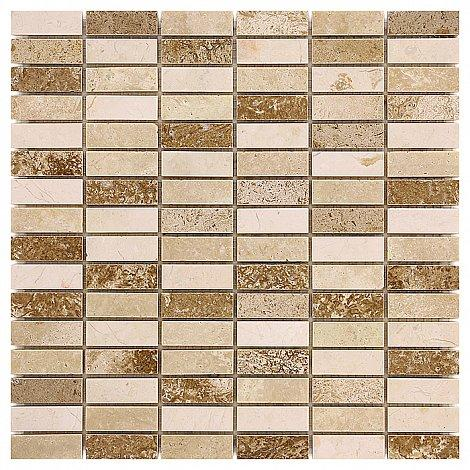 Traver.+Emper. Travertine Block Mix 48 Kamenné mozaiky DUNIN (30,5 x 30,5 cm / 1 ks)