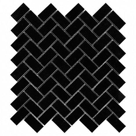PURE BLACK HERRINGBONE 48 (30,5 x 30,5cm/1ks)